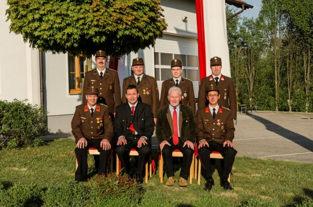 Kommando der Feuerwehr Tegernbach im Mai 2014