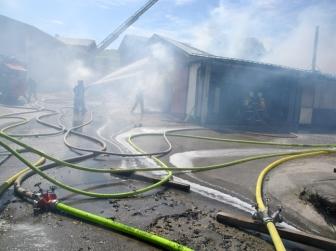 Brand im Sägewerk Mühlberger, Niederndorf