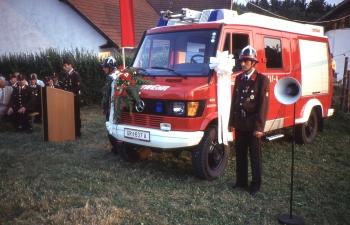 Fahrzeugsegnung des neuen KLF-A im Jahr 1994