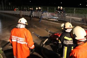Pumparbeiten bei der Unterführung in Brandhof