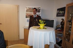 Kommandant Erwin Auinger berichtete ausführlich über das Vergangene Jahr