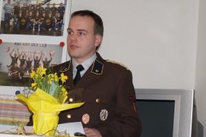 Kassier Clemens Strasser bei seiner Ansprache